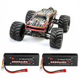 JLB 2.4G Racing CHEETAH 1/10 Caminhão RC sem escova 80A Caminhões 11101 RTR com dois Baterias