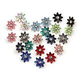 Piedras preciosas de flores dulces de mujer de cristal Pendientes