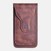 Erkek Suni Deri Cep Telefonu Çanta Bel Çanta Kemer Çanta Outdoor için
