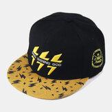 Unisex Hip-Hop Tarzı Flash Desen Nakış Rahat Outdoor Düz Ağız Visor Güneş Şapka Beyzbol Şapka