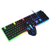 Ensemble clavier et souris filaire T-Wolf TF230 104 touches clavier filaire USB souris 2400DPI rvb clavier de jeu rétro-éclairé souris combo