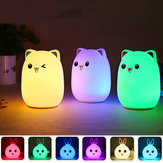 LED Small Night Light Sleeping Lamp Baby Room Rabbit Bear Light Kids Bed Lamps Remote Control