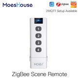 Moeshouse ZB Smart Home Wireless Scene Switch 4 Gang Remote Portable Tuya ZB Hub Required No Limit to Control Devices