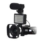 KOMERY AF2 48M 4K videokamera videokamerával Vlogging Live Broadcast NightShot 3,0 hüvelykes érintőképernyős rázkódásgátló videokamera WIFI APP vezérlés DV videofelvétel mikrofon lencsével
