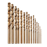 Drillpro 15pcs 1.5-10mm HSS M35 Cobalt Twist Drill Bit for Metal Stainless Steel Aluminium Copper