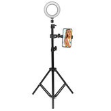 16cm 2700K-5500K Dimmbares USB LED Ringlicht Universal Telefonhalter Verstellbarer Stativständer für Make-up Selfie Video Youtube Blog