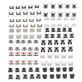 Total 120pcs Tactile Tact Mini Push Button Switch Packet Micro Switch Bags 12 Types Each 10pcs