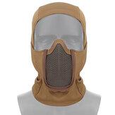 Tactical Full Face Steel Mesh Maschera Caccia Airsoft Paintball Maschera per CS Game