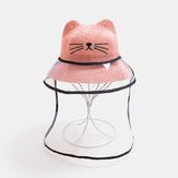 Children's Cat Hat Removable Face Screen