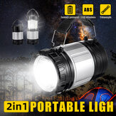 Battery Powered LED Camping Light Telescopic Portable Flashlight Tent Lantern Lamp