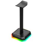 Support de casque Redragon HA300 RGB lumineux 4X Ports USB 2.0 Support de support de casque de jeu avec Base en caoutchouc solide antidérapant
