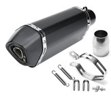 36-51mm Black Carbon Fiber Head Modified Motorcycle Exhaust Muffler Pipe