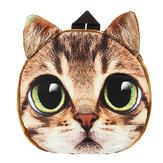 3D dos desenhos animados Cachorro cara do gato Padrão mulheres mochila mochila animal