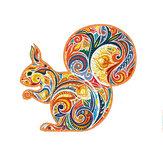 A3 / A4/A5 Holz Eichhörnchen Muster Puzzle Colorful Mysteriös Charmant Frühpuzzle Kunstspielzeug Geschenke für Kinder Erwachsene