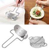 2Pcs Stainless Steel Dumpling Mould Press Meat Pie Pastry Maker Dough Cutter Tool