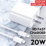 Bakeey 20W USB C chargeur adaptateur de chargeur de voyage USB-C PD pour câble de données Lightning charge rapide iPhone 12 Pro Max Mini