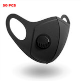 50 Pcs PM2.5 Face Masks Camping Travel Cycling 3 Layer Filter Breathable Anti-dust Mouth Mask