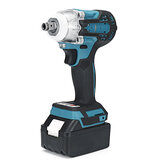 2 in1 18V 800N.m Electric Wrench Screwdriver Brushless Cordless Electric 1/2''Wrench 1/4''Screwdriver W/ 2 Batteries
