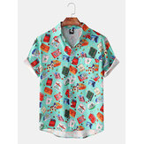 Camisas estampadas de manga corta para hombre New Hawaii Playa