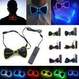 Batterie Angetrieben LED Leuchten EL Mens Fliege Krawatte für Halloween Hochzeit Party DC3V