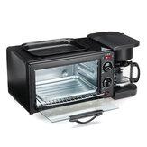 220V 3 In 1 Multifunktions-Frühstücksmaschine Elektrischer Toaster Ofen Braten von Kaffee