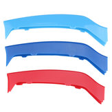 Tri Color Front Grille Cover Trim Strip For BMW 4 Series F32 F33 14-17