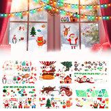2020 Christmas Decoration Sticker Glass windows Decals Merry Christmas Home Decoration Wall Stickers Kids Room New Year Wallpaper