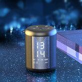 EARISE Z16 Dual Alarm Relógio Alto-falante bluetooth 9D Bass Stereo Suporte para reprodução de 20 horas TF FM AUX
