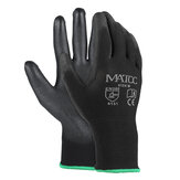 12 Pairs PU Nitril Coated Safety Work Handschoenen Garden Builders Grip Antislip Maat M / L / XL