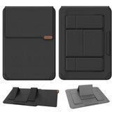 NILLKIN 14 / 16.1 inch Zakelijke notebooktas Laptopstandaard Multifunctioneel met 2 hoeken Verstelbare opvouwbare standaard Krasbestendig Schokbestendig PU-lederen laptophoes Opbergtas voor 14-16,1 inch notebook voor Macbook Air Pro