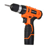 Lomvum 12V Electric Drill Power Drill Two Speed Electric Screwdriver Tool With Bits Set