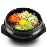 Korean DOLSOT Bowl Big Sized Earthenware Stone Pot Bibimbap Cooking + Trivet Set Rice Bowl