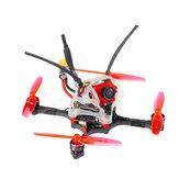 35g GEELANG WASP V2 100mm Jarak Roda Putar F4 Whoop 2S FC 4 In 1 ESC Tusuk Gigi FPV Racing Drone BNF dengan 1/4 COMS Sensor Kamera