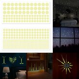 400pcs Luminous Glow In The Dark Star Round Dot Wall Sticker Home Ceiling