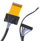 51P 2CH 8-bit LVDS Puntaje alto Línea de pantalla FFC de 51 pines Para LG Fuente de alimentación izquierda 550 MM LCD Cable de pantalla del controlador
