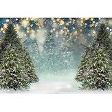 Fondo de fotografía de árbol de Navidad de copo de nieve de invierno Brilho Tela de fondo de decoración para estudio de fondo de fotografía Prop