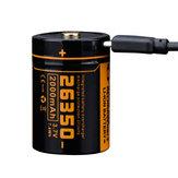 FitorchUC2026350Batteria2000mAh agli ioni di litio USB ricaricabile Batteria Torcia elettrica per P25