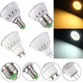 E27 E14 GU10 MR16 3.5W 27 SMD 5730 Non-Dimmable LED Ampoule de lampe blanc chaud Spot blanc chaud AC110 / 220V