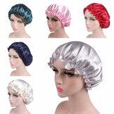 Satynowa koronkowa czapka do spania Czapka nocna do pielęgnacji włosów Satynowa czapka z daszkiem Szlafrok dla kobiet