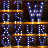 Vintage LED DIY Letter N tot Z Sign Blue Decorations Reclamelicht