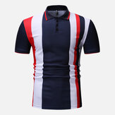Mænd Color Block Muscle Fit Golf Shirt