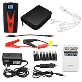 99900 mAh Çift USB Araba Jump Starter LCD Oto Batarya Güçlendirici Jumper Kabloları ile Taşınabilir Güç Paketi