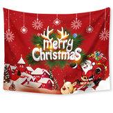 Noel Tarzı Goblen Polyester 150x200 cm Mağaza Dekorasyon TV Arka Plan Duvar Masa Örtüsü Için Büyük Dijital Baskı Goblen