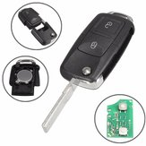 Car 433MHz ID48 Chips 2 BTN Remote Key Alarm Fob Flip Uncut for VW 1J0 959 753 AG