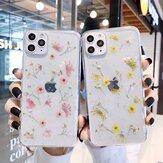 Bakeey Fashion Ins Style Dried Flower Pattern شفاف TPU حافظة واقية للنساء لهاتف iPhone 11/11 Pro / 11 Pro Max