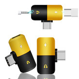 Bakeey Dual Headphone 2 In 1 صوت Jack Type-C محول Splitter صوت Converter for Samsung