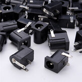50pcs DC-005 3Pin Black DC Power Jack Socket Connector 5.5*2.1mm