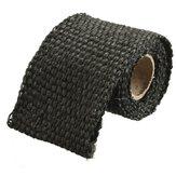 Bande d'enveloppe thermique d'isolation de tuyau d'échappement de fibre de verre vierge de 1m 2inch