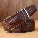 Men's Automatic Buckle Leather Belt Long Leather Belt