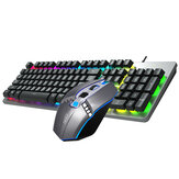 AOC KM410 Wired Mechanical Keyboard & Mouse Set 1400DPI Mouse 104 Keys Keyboard Suspension Keycaps 3D Rubber Roller RGB Backlight Gaming Keyboard Mouse Combo